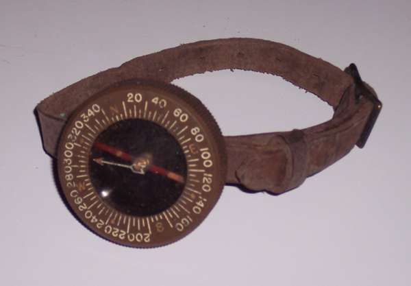 US Army Airborne Wrist Compass with Leather strap