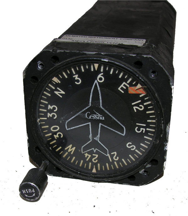 Aircraft Directional Gyro Indicator Instrument