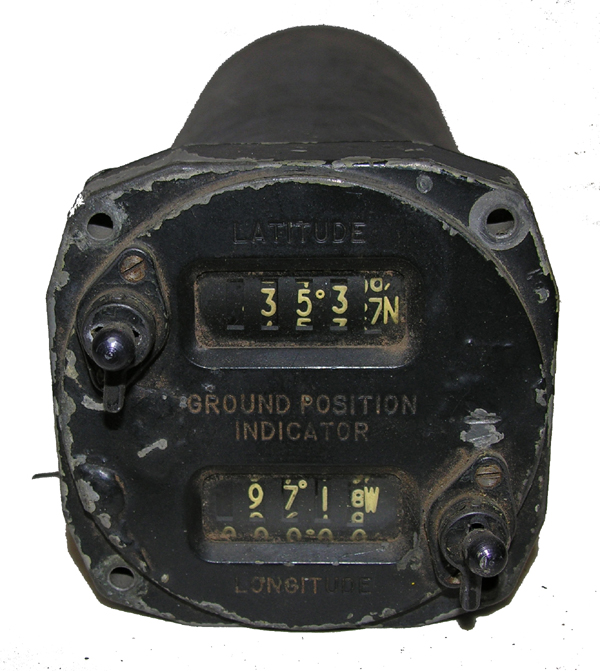 Aircraft Latitude/Longitude Indicator Instrument