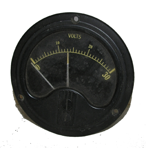 Aircraft Volts Indicator Instrument