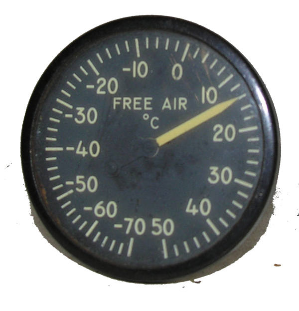 Aircraft Outside Air Temperature Indicator Instrument
