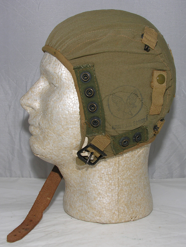 USAAF A-9 Flight Helmet with oxygen mask snaps