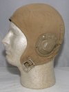 US Navy M-450 Flight Helmet with tan leather earcups
