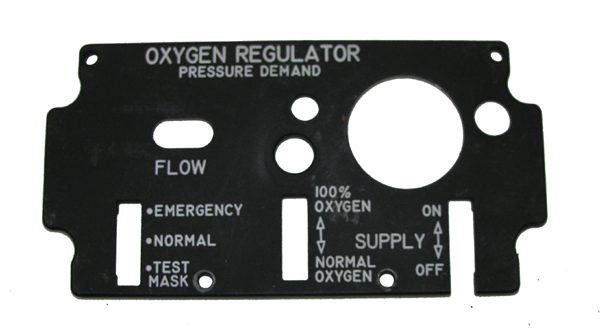 Aircraft Oxygen Regulator Replacement Face Panel