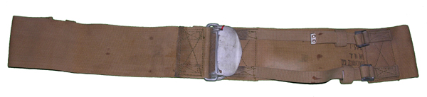 WW2 Aircraft Safety Belt or Parachute Cargo Belt