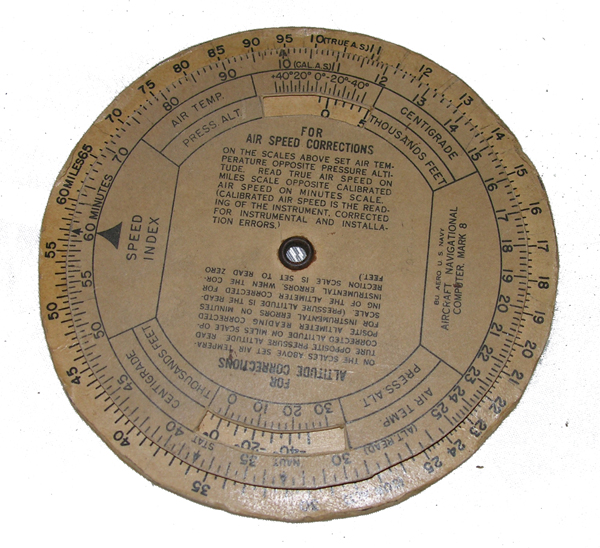US Navy Air Speed Correction Dial