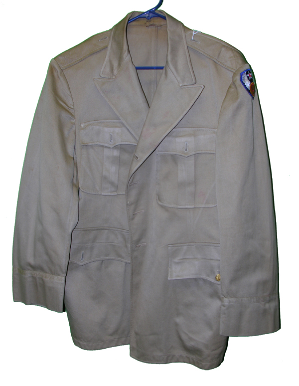 USAAF Officers Khaki Tunic with 9th AF patch size 40