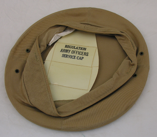 Khaki Army Visor Cap Cloth Cover