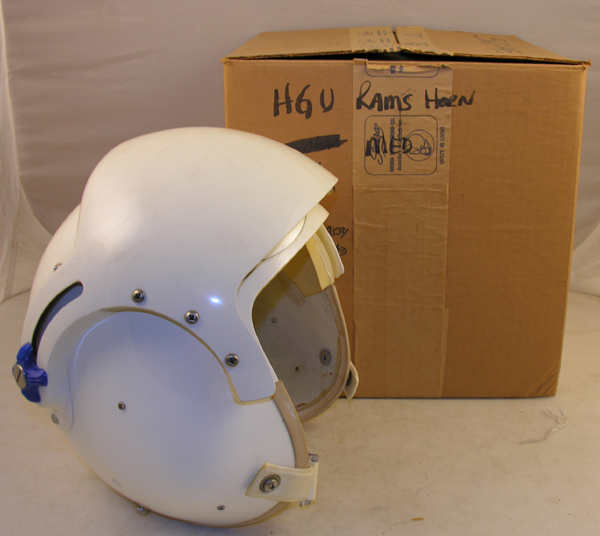 USAF HGU-2A/P Dual Visor Rams Horn Flight Helmet with original box