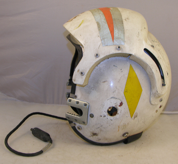 US Navy APH-6 Dual Visor Rams Horn Flight Helmet