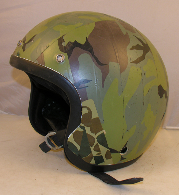 Motorcycle Helmet with camo tape