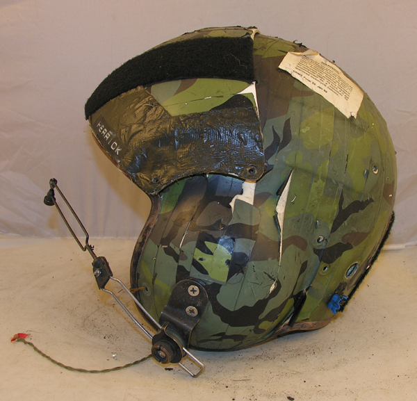 US Army SPH-4 Helicopter Helmet with camo reflective tape