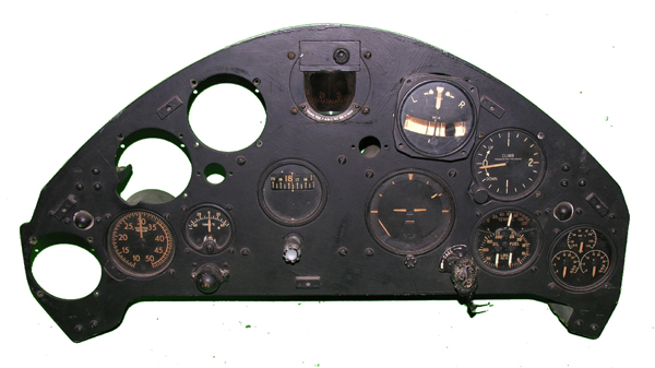 WW2 KingFisher Instrument Panel with Instruments