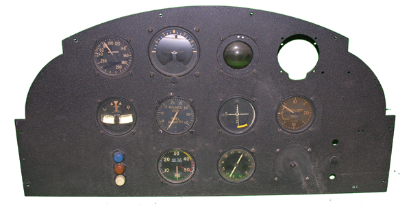 WW2 Instrument Trainer Instrument Panel with Instruments