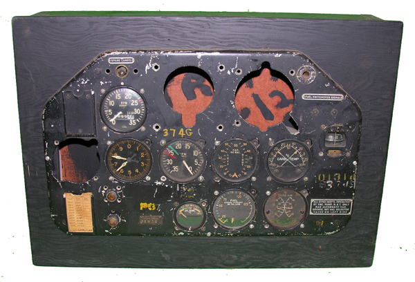 RARE WW2 BT-14? Aircraft Instrument Panel with Instruments