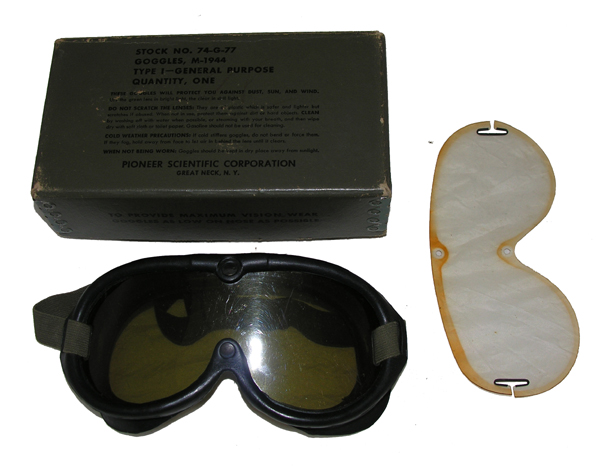 M-1944 Dust Goggles with box
