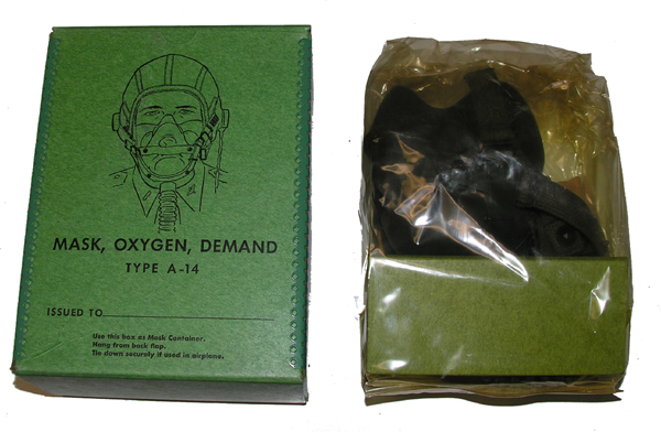 USAAF A-14 Oxygen Mask NEW OLD STOCK