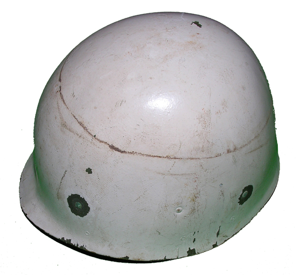 GI Helmet Liner painted white