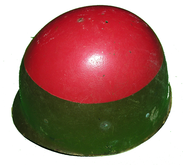 GI Helmet Liner with painted Red Top