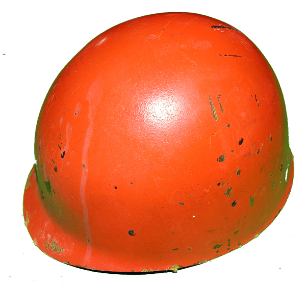 GI Helmet Liner painted orange