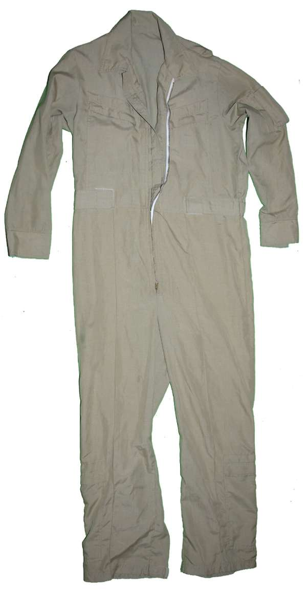 Unmarked Khaki Flight Suit