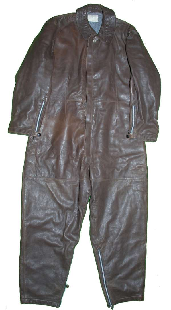 WW2 French One Piece Leather Flight Suit
