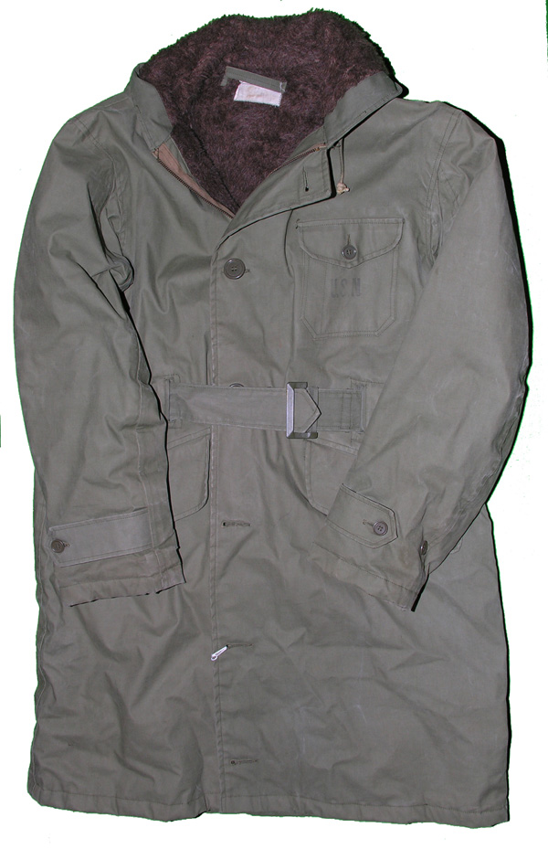 US Navy Parka Coat with waist belt