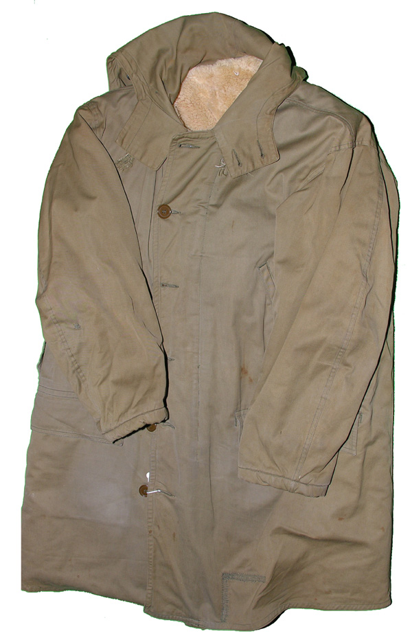 US Army Cold Weather Cloth Shearling Lined Coat