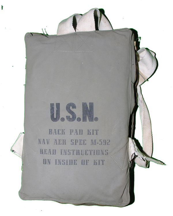 RARE US Navy M-592 Survival Back Pad Kit 95% complete
