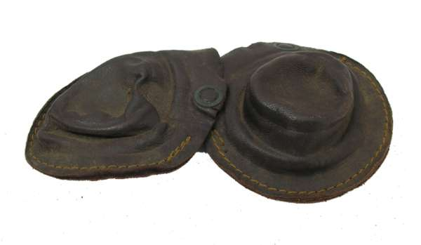 USN NAF-1092 Flight Helmet Brown Leather Earcups