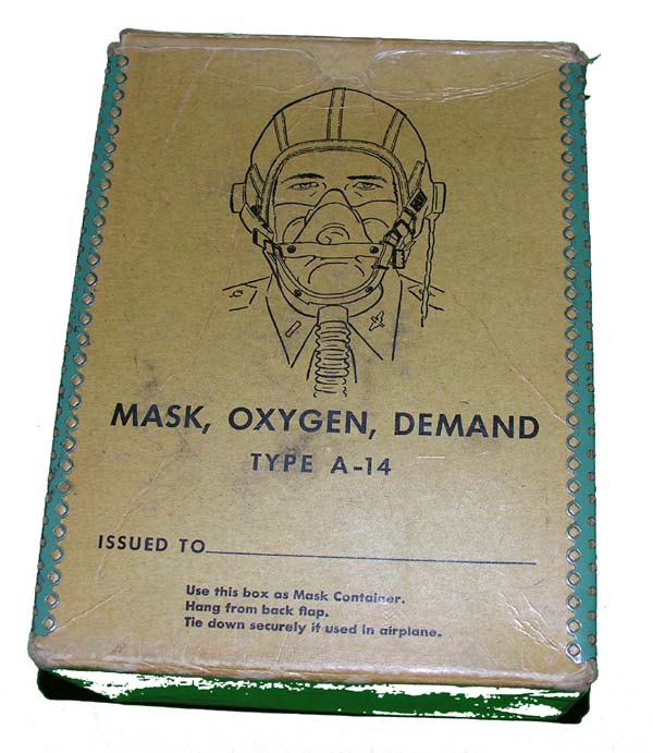 RARE USN A-14 Oxygen Mask with original box