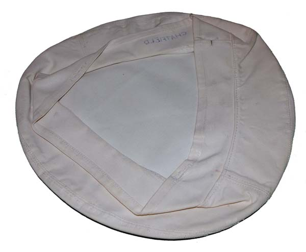 USN White Visor Cap Cover