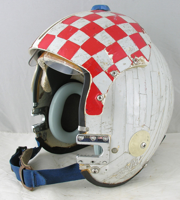 US Navy APH-6 Jet Pilots Helmet with original reflective tape