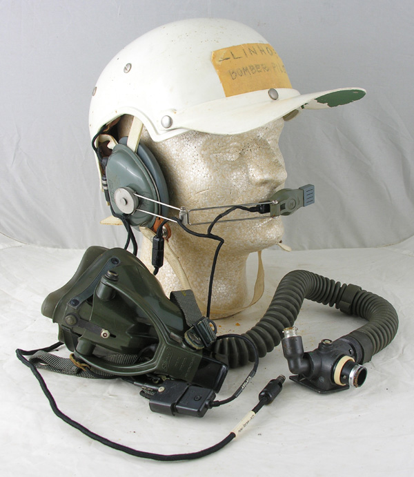 USAF HGU-7/P Flight Helmet with MBU-5/P mask