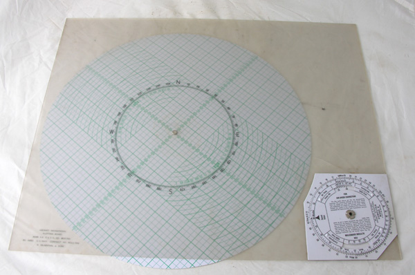 WW2 USN Plotting Board Plastic Top