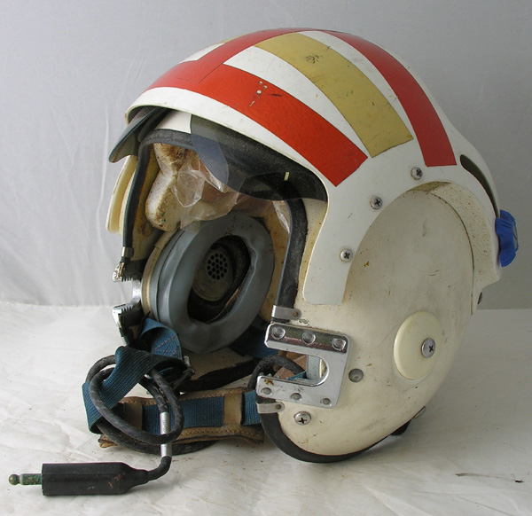 US Navy APH-6C Jet Pilots Helmet with original reflective tape
