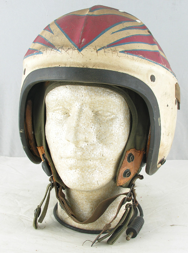 US Navy H-4 Jet Pilots Helmet with original Red Star Painting