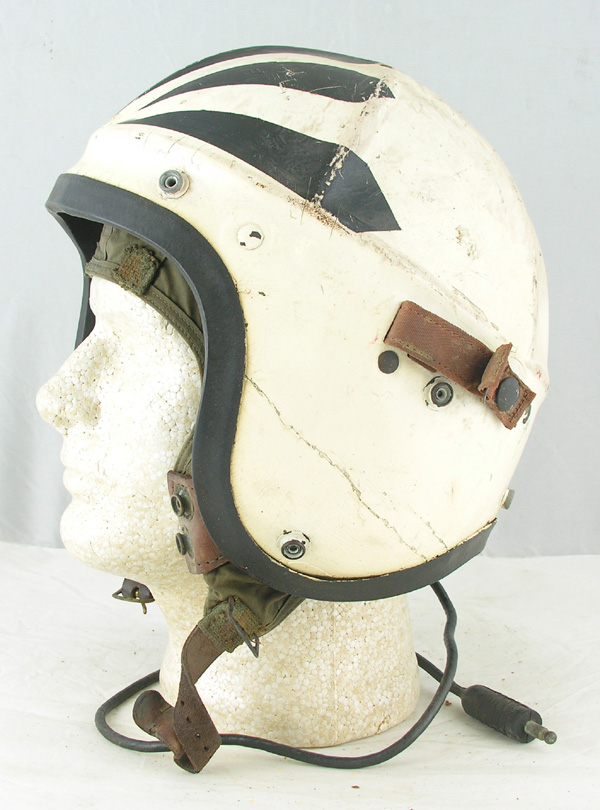 US Navy H-4 Jet Pilots Helmet with original White and Black Painting