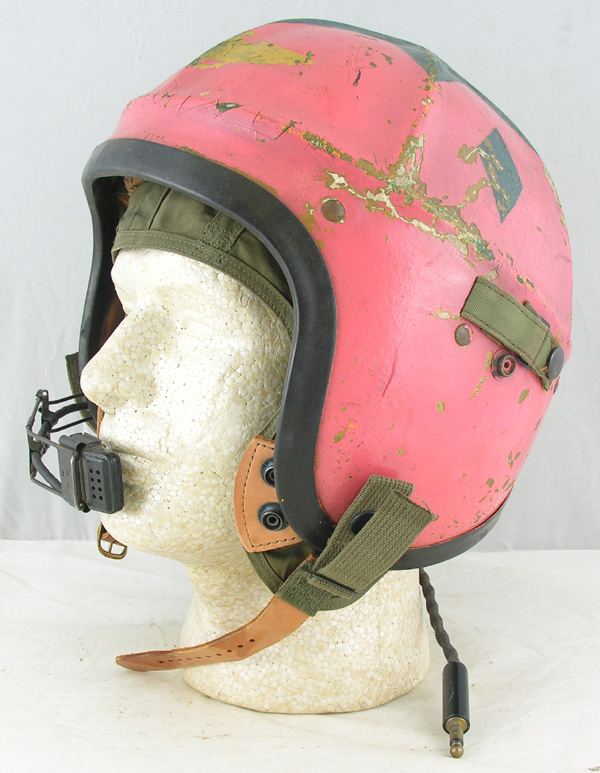 US Navy H-4 Jet Pilots Helmet with original Blue Star on Pink Painting