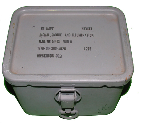 US Navy Signal Flare Container