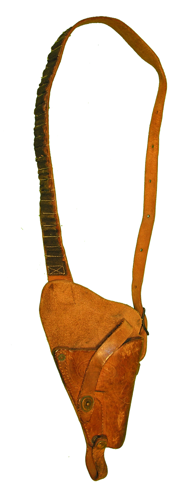 US Navy .38 Leather Shoulder Holster with Rigger Bullet Loops