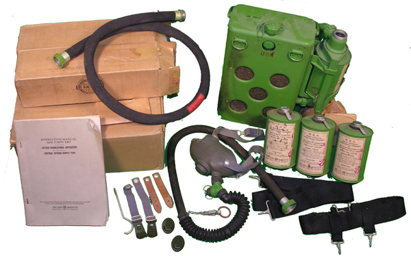 US Navy MSA C Oxygen Mask Kit