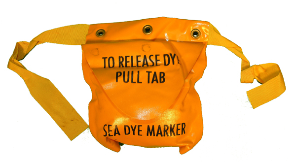 Life Vest or Life Raft Sea Dye Marker