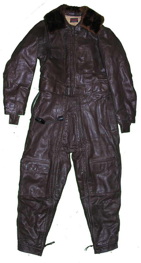 US Navy M-456 Leather Electrically Heated One-piece Flying Suit