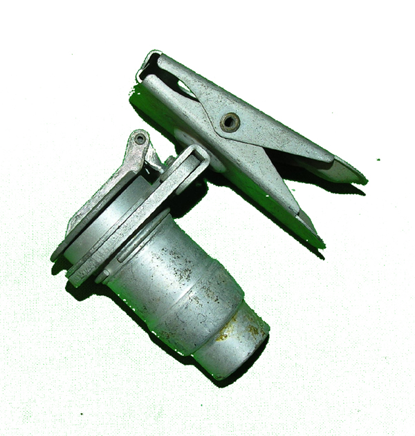 USAAF Oxygen Mask Hose Fitting with Flip Cap and Alligator Clothing Clip