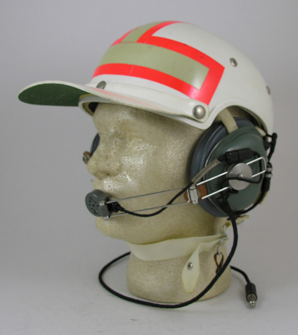 HGU-7/P Flight Helmet with reflective tape