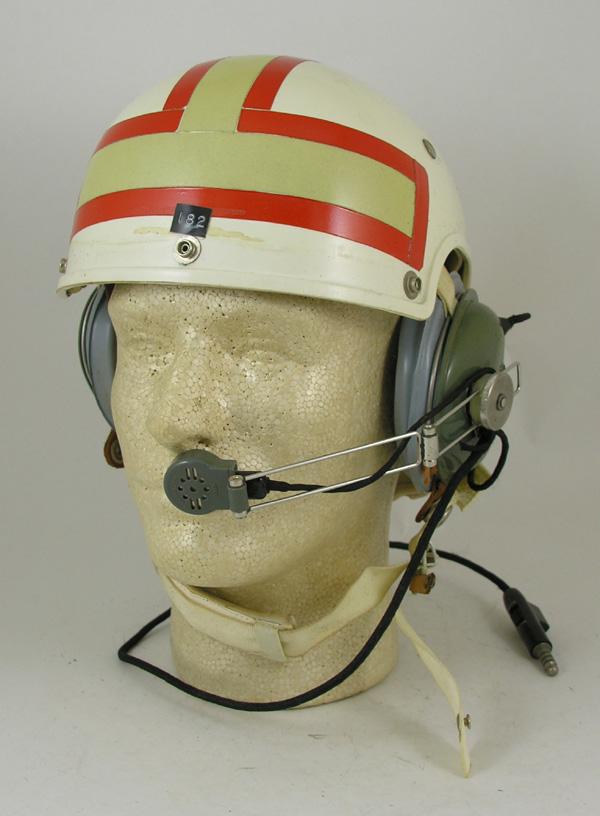HGU-7/P Flight Helmet with reflective tape