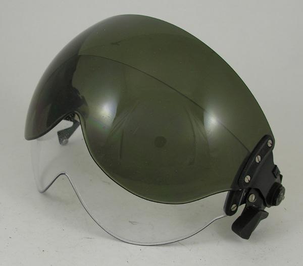 British Flight Helmet Dual Visor Assembly