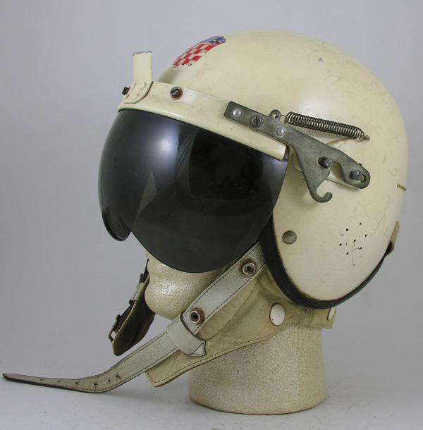 Unusual Foreign P-like Flight Helmet or Car Racing Helmet