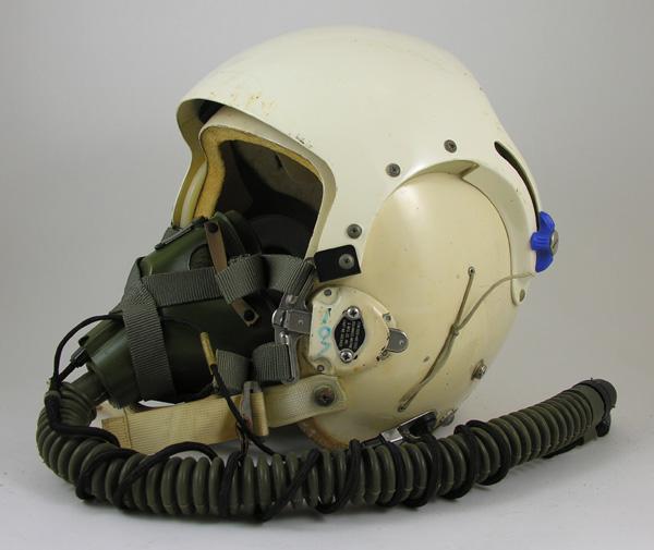 USAF HGU-26/P Rams Horn Flight Helmet with MBU-5 Oxygen Mask